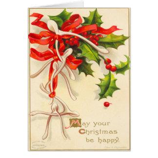 ビクトリアンな願いの骨のクリスマスカード カード