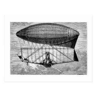 ビクトリアンな飛行船の飛行船の軟式小型飛行船 ポストカード