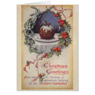 ビクトリアンなFiggyプディングクリスマスカード カード