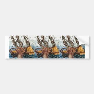 ビクトリアンなSteampunk Krakenのタコの海の創造物 バンパーステッカー