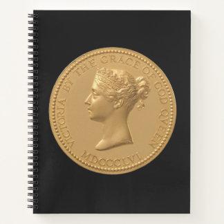 ビクトリア女王の硬貨 ノートブック