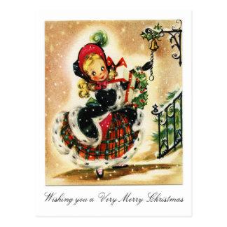 ビクトリア時代の人の非常にメリークリスマス 葉書き