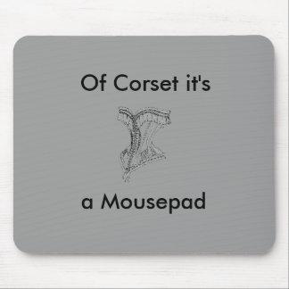 ビクトリア時代の人当然それはコルセットのマウスパッドの灰色です マウスパッド