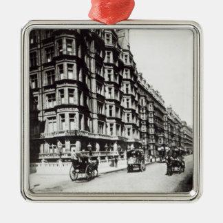 ビクトリア通り、ロンドンc.1900 メタルオーナメント