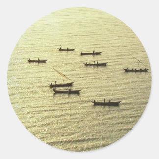 ビクトリア銀製の絹の湖ケニヤ ラウンドシール