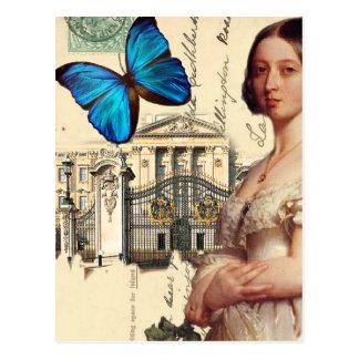 ビクトリア陛下の女王、青い蝶と、 ポストカード