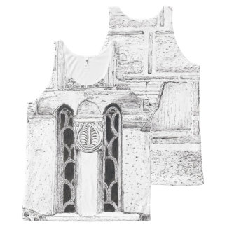 ビザンチンによって切り分けられる石造りのデザイン オールオーバープリントタンクトップ