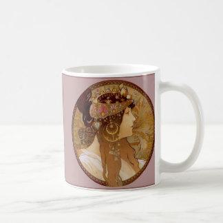 ビザンチンのブルネット1897年 コーヒーマグカップ