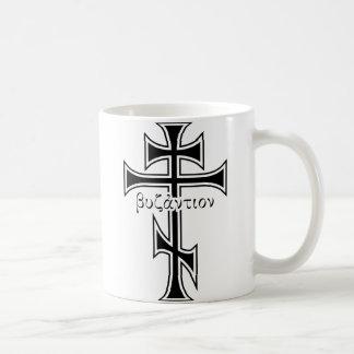 ビザンチンの十字及びワシ コーヒーマグカップ