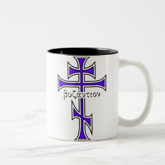 ビザンチンの十字及びワシ ツートーンマグカップ