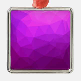 ビザンチンの紫色の抽象芸術の低い多角形の背景 メタルオーナメント