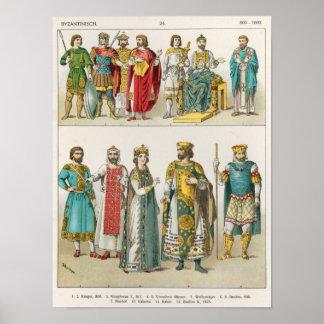 ビザンチン裁判所の服 ポスター