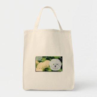 ビションフリーゼ切り絵×新潟県湯沢町・フジロックの森のアジサイ トートバッグ