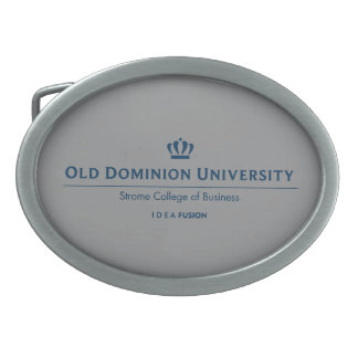 ビジネスのODU Stromeの大学-青 卵形バックル