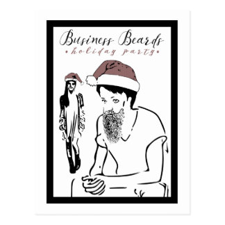 ビジネスひげの休日のパーティ ポストカード
