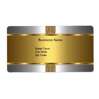 ビジネスをエレガントな銀製の金ゴールドの宝石と分類して下さい ラベル