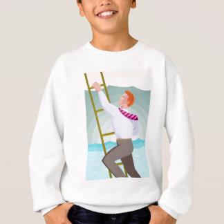 ビジネスマンの役人の労働者の登山の梯子 スウェットシャツ