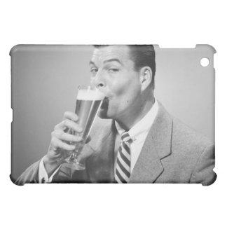 ビジネスマンの飲むビール iPad MINIケース