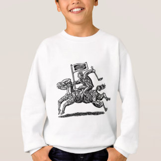 ビジネスマンは労働者の馬に乗ります スウェットシャツ