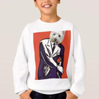 ビジネスマン犬 スウェットシャツ