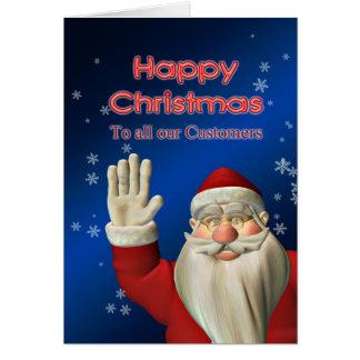 ビジネスメリークリスマス、サンタの振ること カード