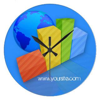 ビジネス円形の時計のテンプレートの時間 ラージ壁時計