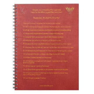 ビジネス分析者のチャーターの16の原則 ノートブック