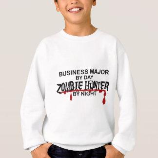 ビジネス専攻のなゾンビのハンター スウェットシャツ