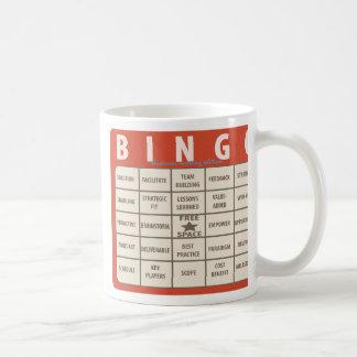 ビジネス専門語のビンゴの特別なオフィスのマグ コーヒーマグカップ