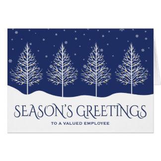 ビジネス従業員の感謝の休日の挨拶 カード