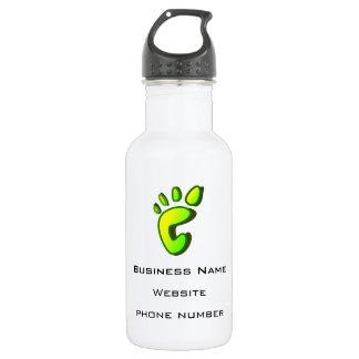 ビジネス昇進の大きいライムグリーンの足跡 ウォーターボトル
