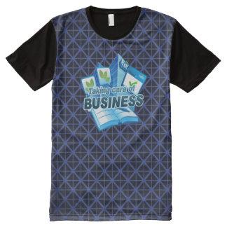 ビジネス海軍の心配にすべての印刷されたTシャツを取ります オールオーバープリントT シャツ