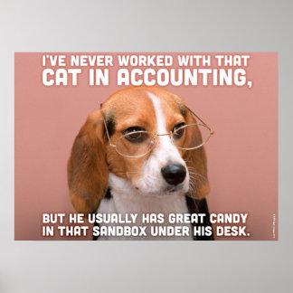 ビジネス犬 ポスター