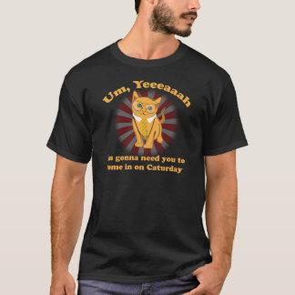 ビジネス猫のオフィスCaturday Tシャツ