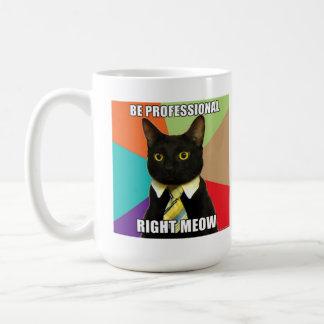ビジネス猫のマグ コーヒーマグカップ