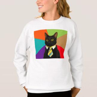 ビジネス猫-黒猫 スウェットシャツ