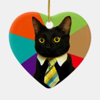 ビジネス猫-黒猫 セラミックオーナメント