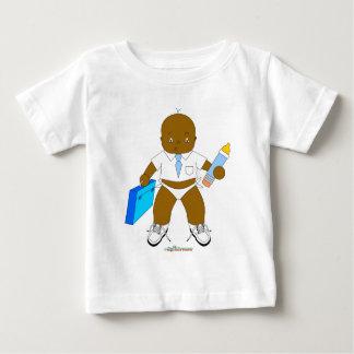 ビジネス男の赤ちゃん ベビーTシャツ