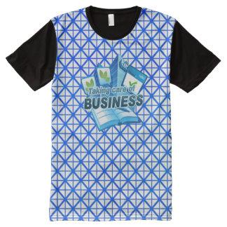 ビジネス白の心配にすべての印刷されたTシャツを取ります オールオーバープリントT シャツ