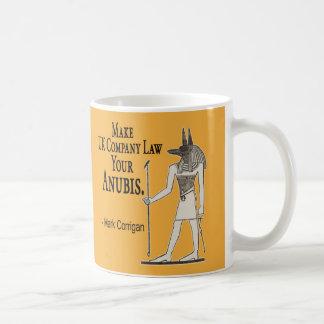 ビジネス秘密: イギリスの会社法にあなたのAnubisを作って下さい コーヒーマグカップ