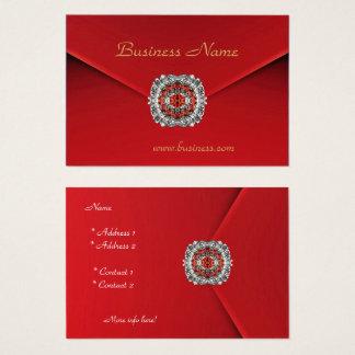 ビジネス赤いビロードのダイヤモンドのイメージ 名刺