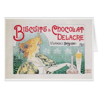 ビスケットチョコレートヴィンテージの食糧広告の芸術 カード