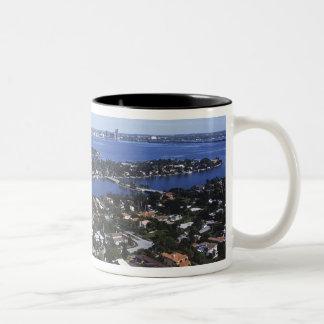 ビスケーン湾、星の私用島の家 ツートーンマグカップ