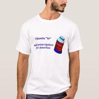 """ビタミン""""W"""" (アメリカのための悪い規定) Tシャツ"""