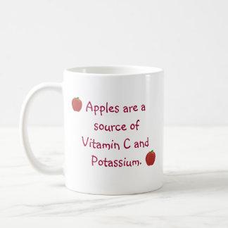 ビタミンC、カリウムのマグのりんごの源 コーヒーマグカップ