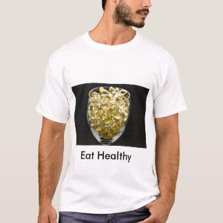 ビタミンEは、健康食べます Tシャツ