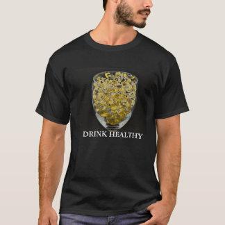 ビタミンE、健康な飲み物 Tシャツ