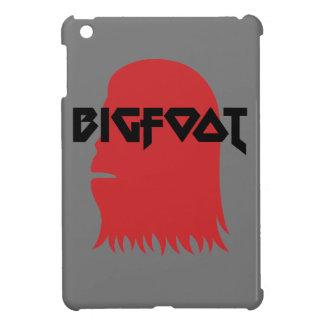 ビッグフットおよび文字の-赤くおよび黒いステンシルは直面します iPad MINI カバー