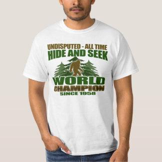 ビッグフットのかくれんぼの世界のチャンピオン Tシャツ