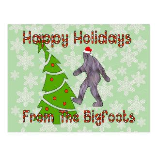 ビッグフットのクリスマス ポストカード